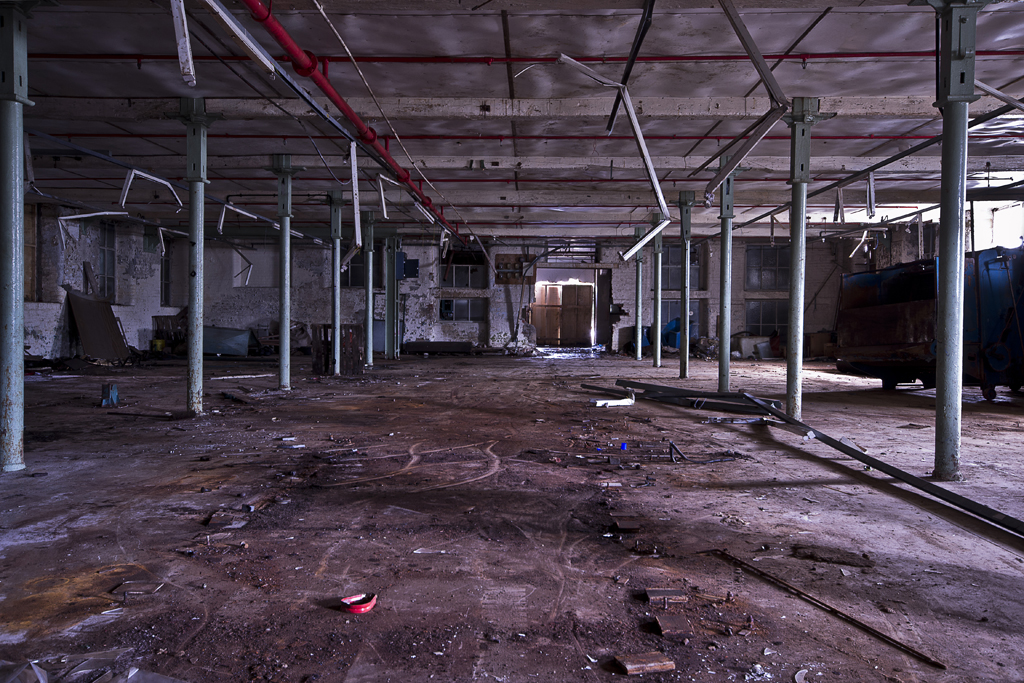The space that only a week before had been crammed full of machinery.