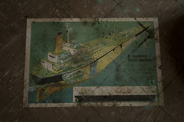 Shell tanker, this was stuck to the floor.