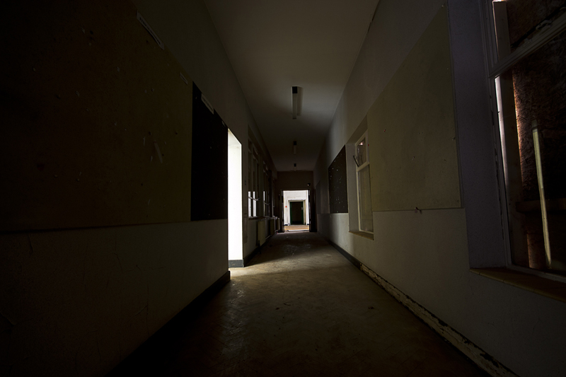 A corridor.