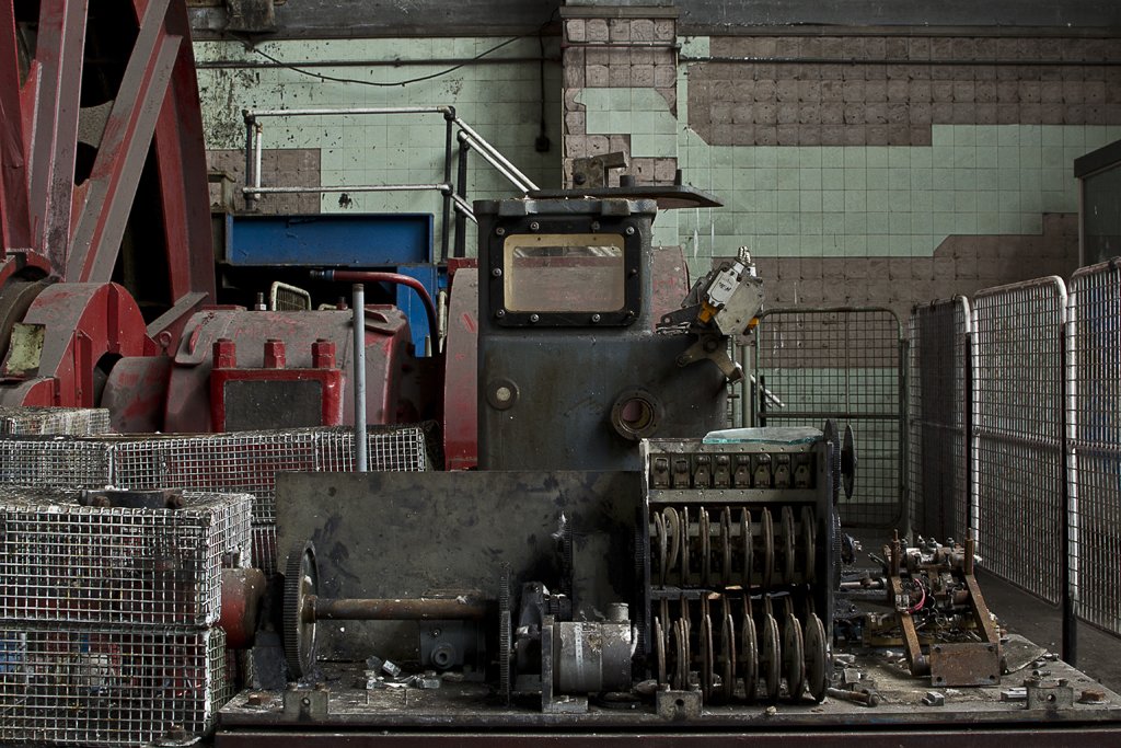 Machinery in a state of disrepair.