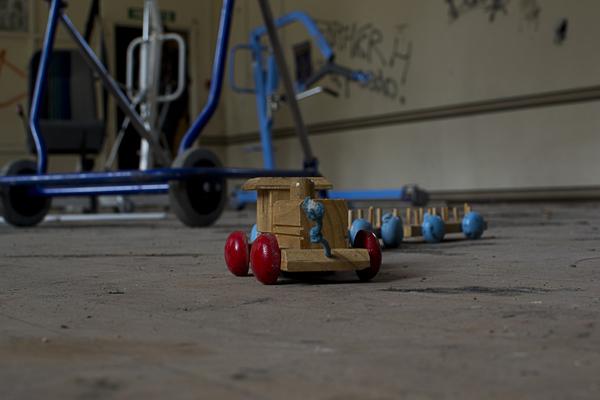 Toy train.