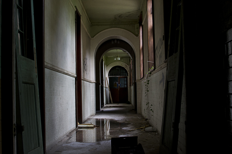 An old corridor, nicely decorated.