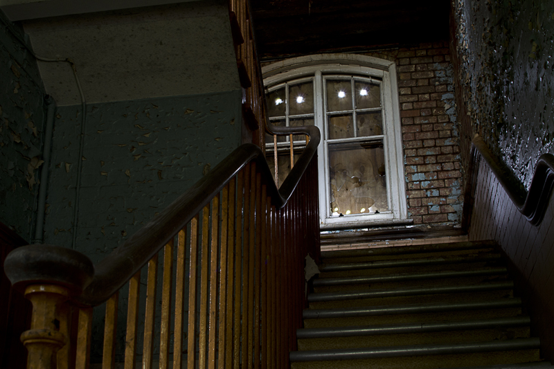 Quite a damp stairwell.