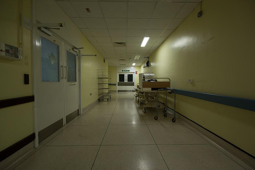 A corridor in the A&E department