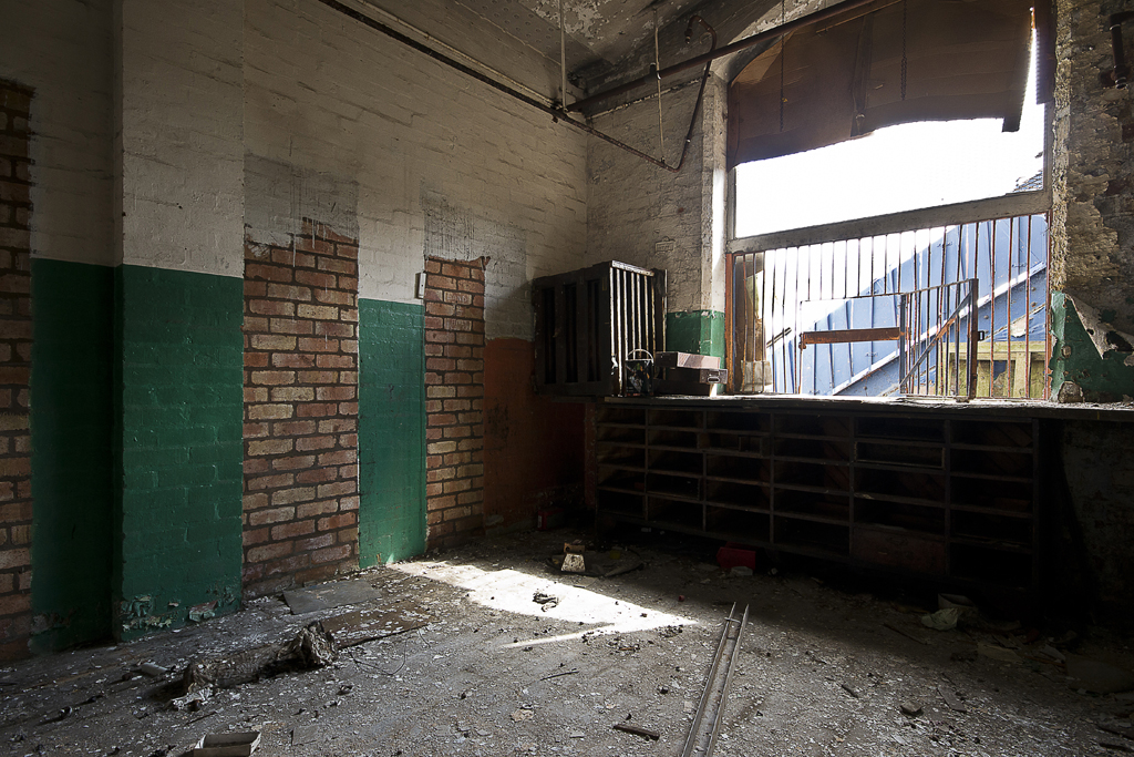 Inside one of the remaining buildings, I believe that this may of been some sort of stores.