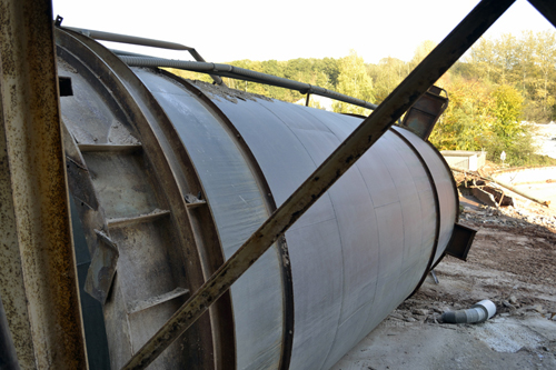 A silo that had been felled the day before we visited