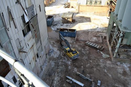 The demolition crew hard at work
