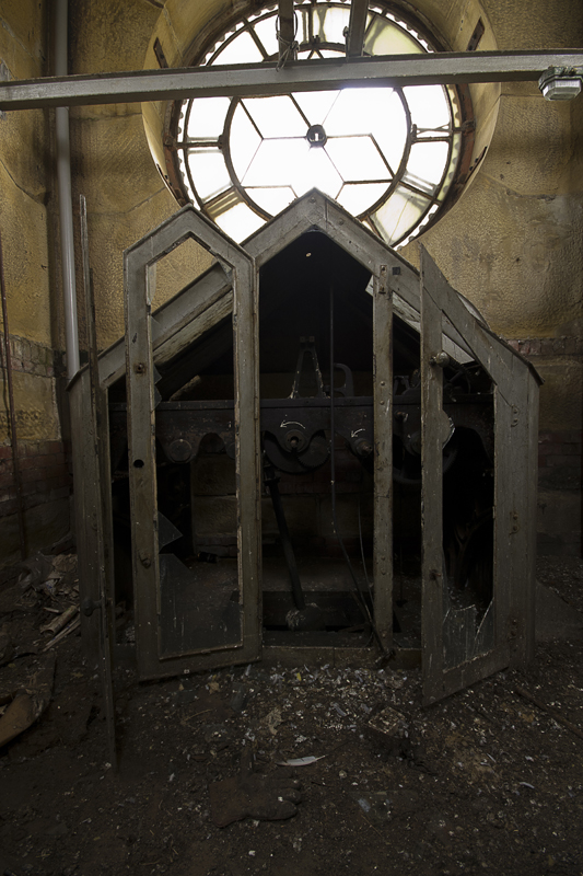 Inside the clock tower.