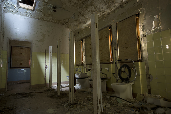 Old toilets.