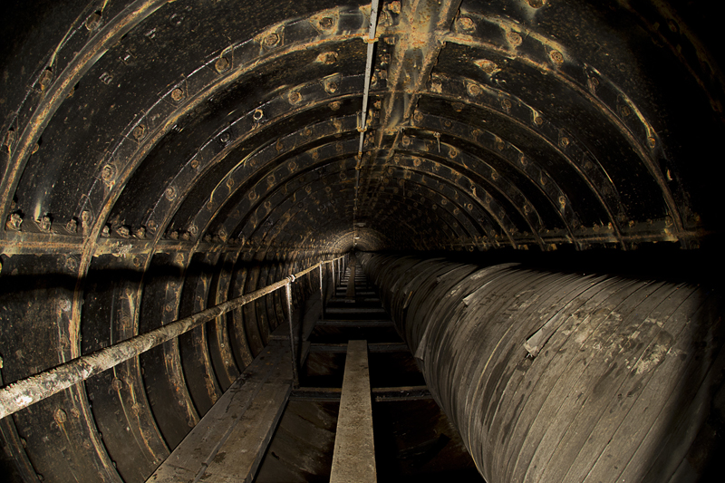 A section of tunnel, it largely looked the same along the length.