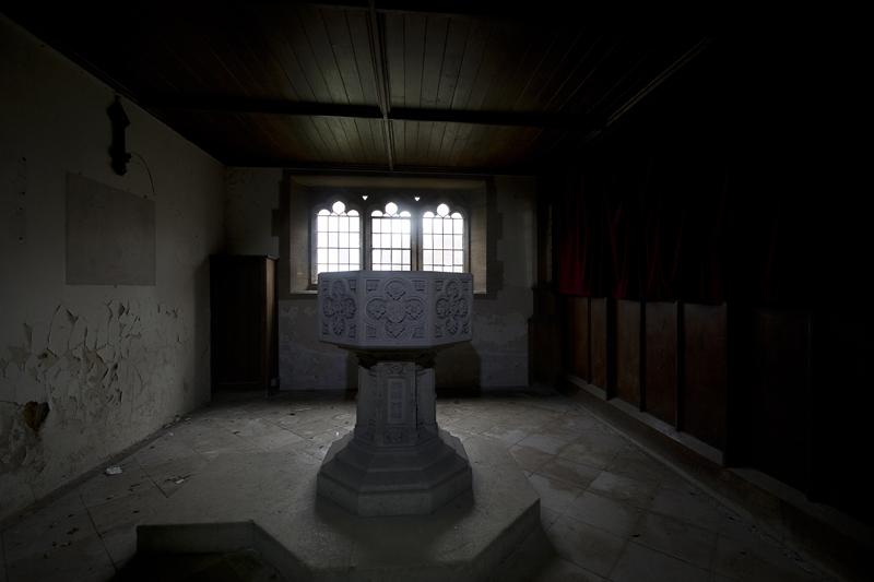 The chapels font.