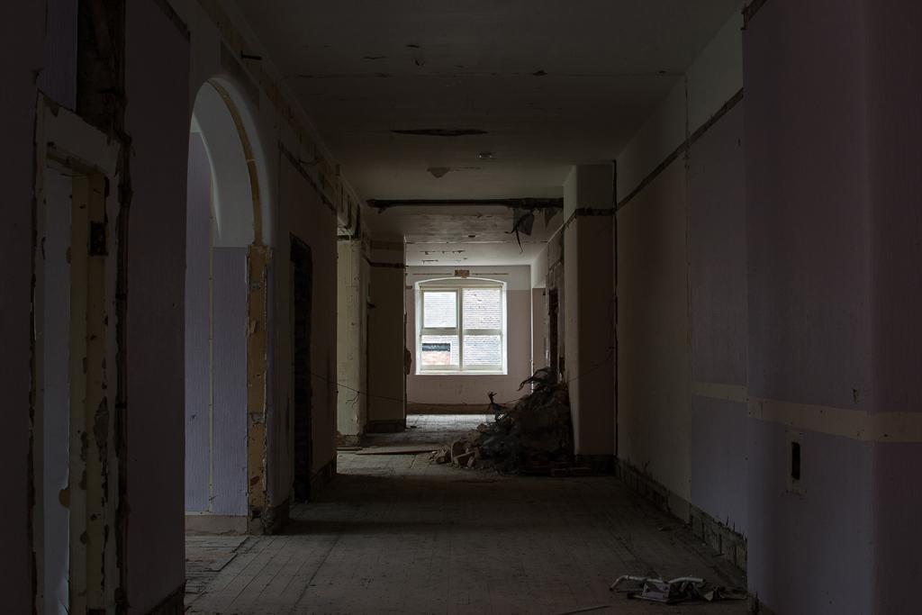 Purple corridor.
