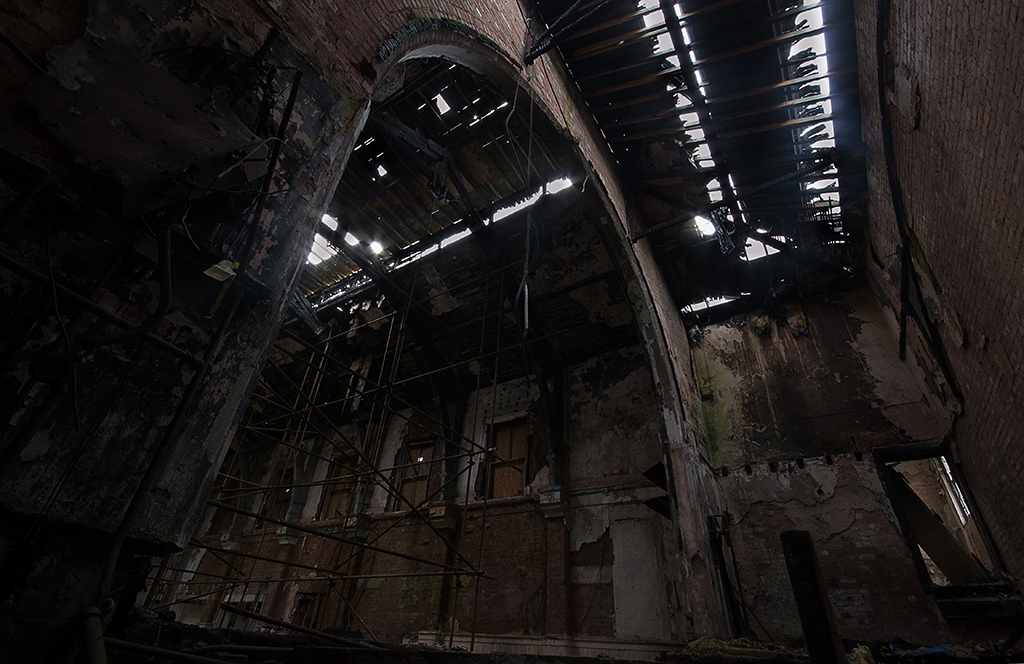 Backstage in the Burnt Out Refectory