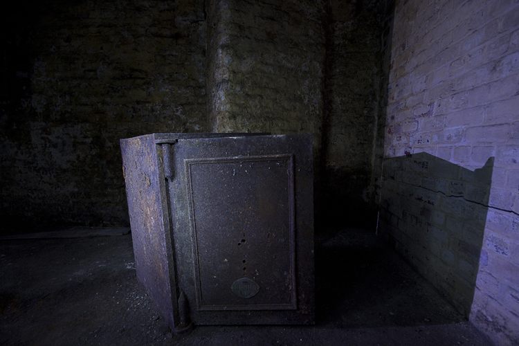 A safe, sadly with no money inside.