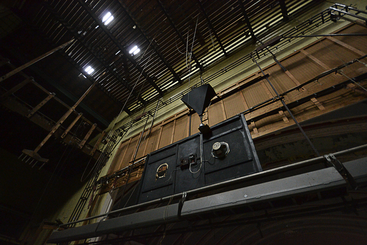 Part of the stage audio system.