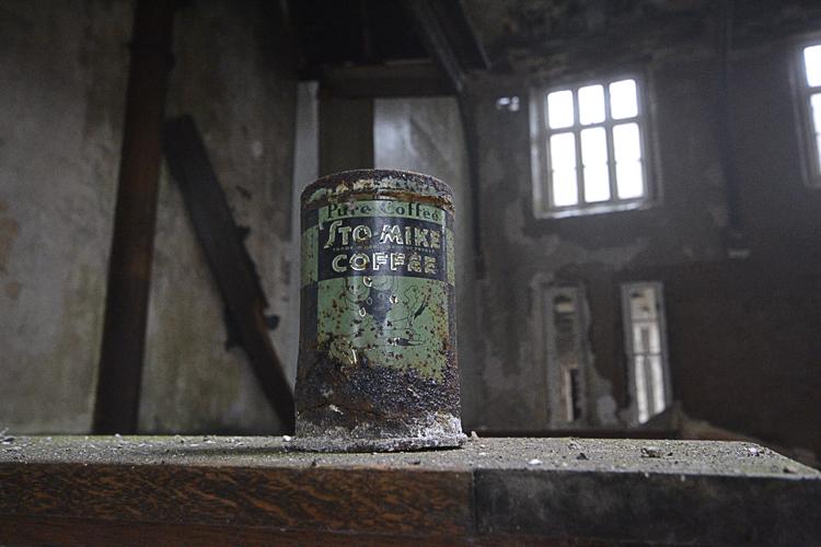 An old coffee tin.