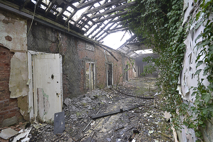 Exposure to some particularly harsh winters has left some parts of the hospital in bad condition.