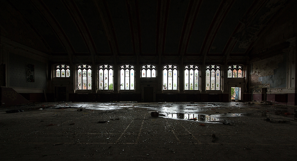 Hall, Stained Glass
