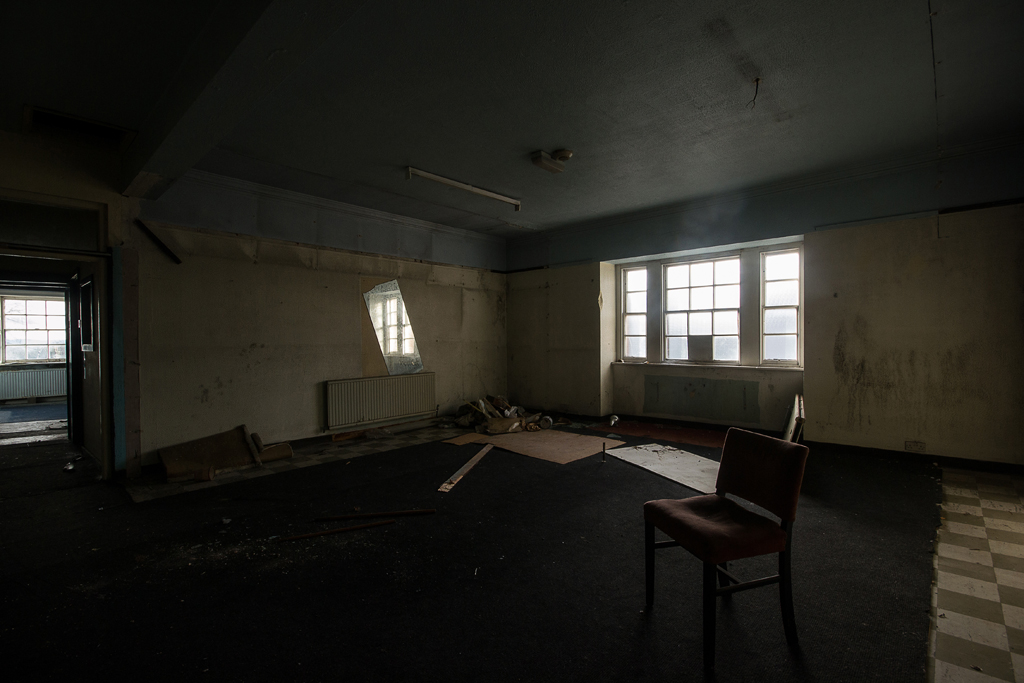 A long disused space.