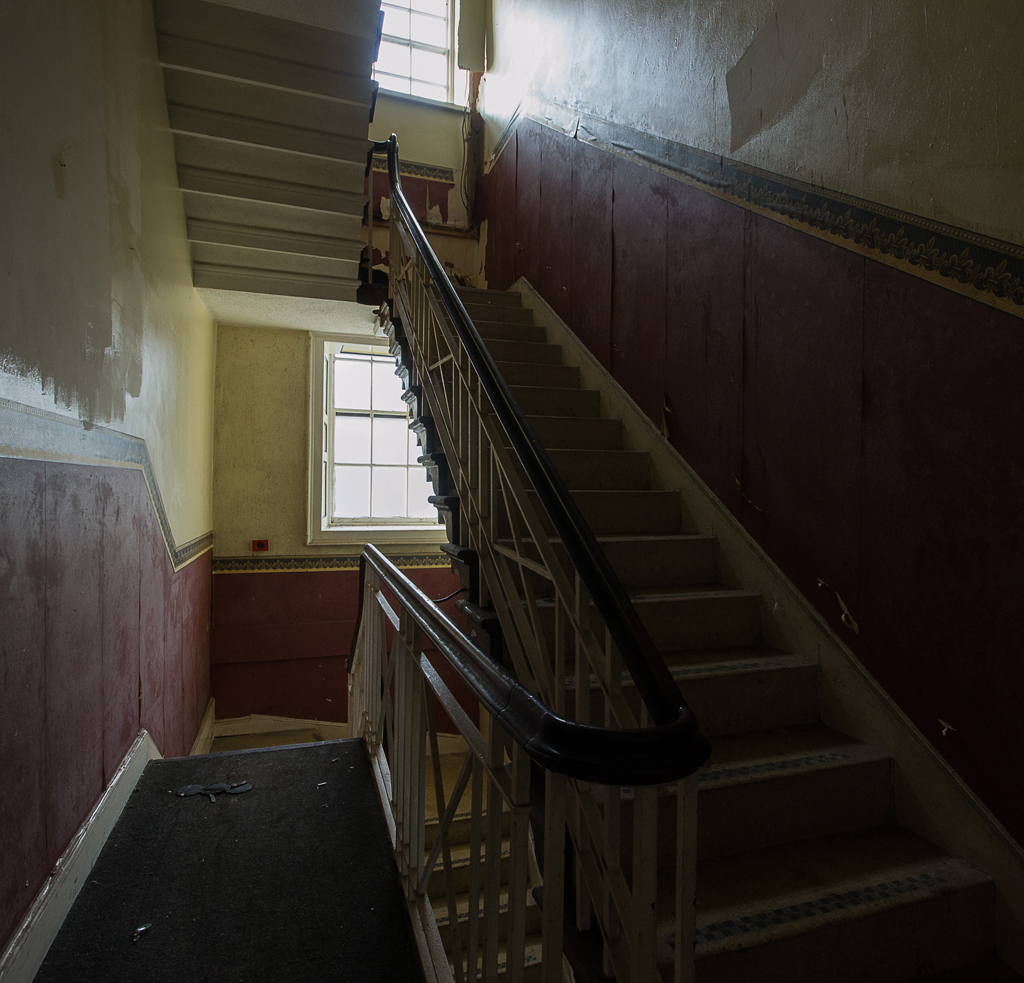 The less grand back staircase.