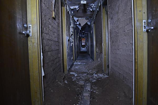 A rather damp corridor.